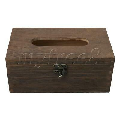 20.9x11.8x9cm Wooden Tissue Box Paper Napkin and Tissues Holder Home Use