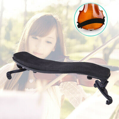 Pro Violin Shoulder Rest Fully Adjustable Pad Support for Violin 3/4 4/4 Black