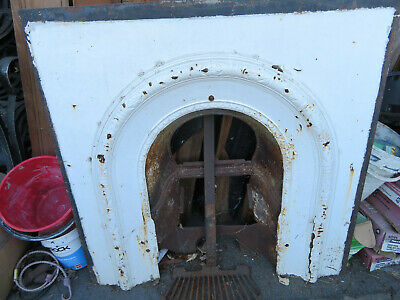 Original Antique Victorian / Edwardian cast iron fire surround