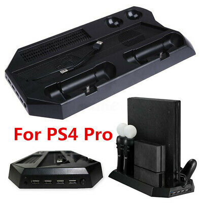 For PS4 Pro Slim Stand Vertical Cooling Controller Charger Charging Station Dock