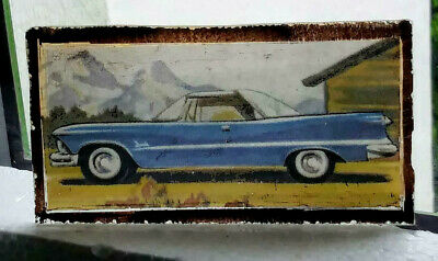 Stained Glass Chrysler Imperial  Classic Car Rare Kiln fired fragment American