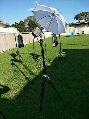 Interfit exd280 strobe light/Soft Box and stand