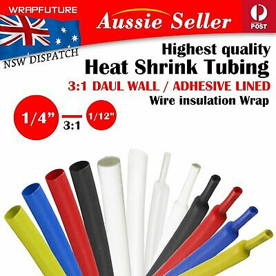 Adhesive Liner Heat Shrink Tube Heatshrink Sleeve Wire Insulation Tubing Protect