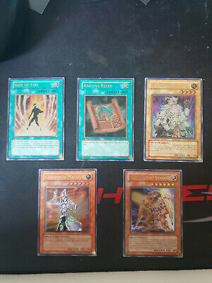 YuGiOh 5 Ultimate Rares, Ancient Rules,Glad beast alexander,Cybernetic Magician+