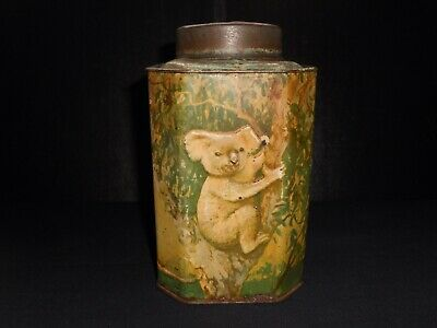 Vintage Old Australian Bushells Tea Caddy Tin -Great Colour