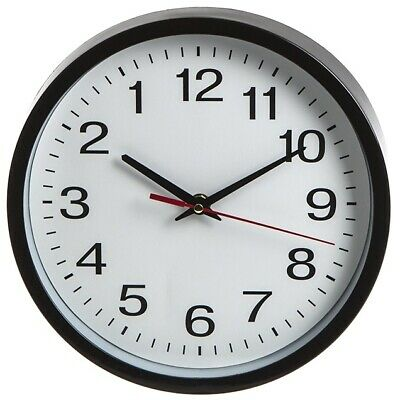 "10"" Novelty Backwards Wall Clock Reverse Funny Gift Anti Clockwise Round Tick"