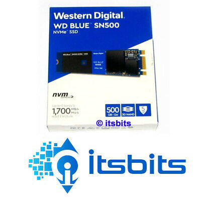 WESTERN DIGITAL BLUE SN500 PCIe GEN 3 NVMe M.2 SSD READ UP TO 1700 MB/s 5 YR WTY