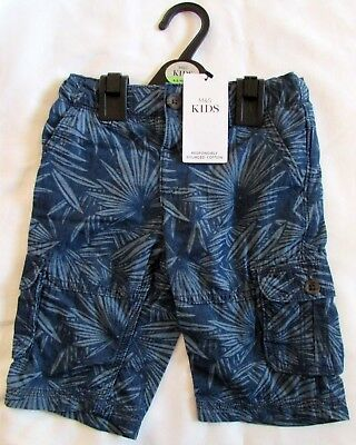 New Boys Shorts 4-5 Years Marks & Spencer 100% Cotton Denim Colour Printed