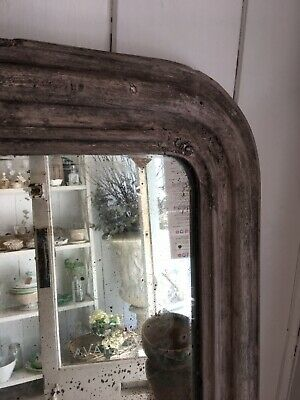 Small French Antique Wall Mirror - Foxed Glass