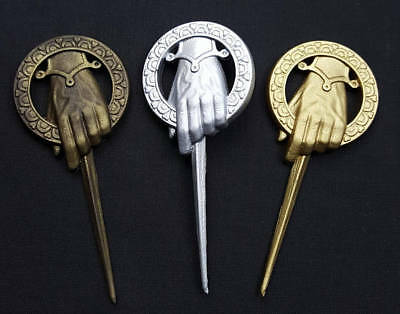 Game of Thrones hand of the King/Queen badge brooch cosplay GOLD best man gift