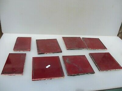 "Vintage Ceramic Tiles Architectural Antique Tile Burgundy 6"" x5 ODD"