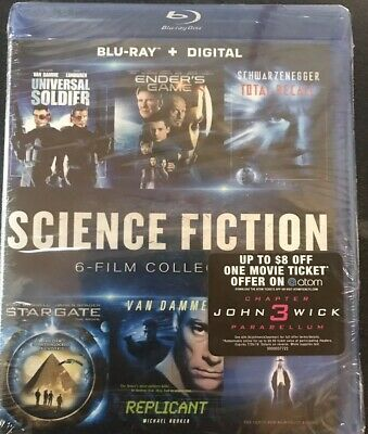 New Science Fiction 6 Film Collection Sealed Blu-Ray + Digital Free Shipping
