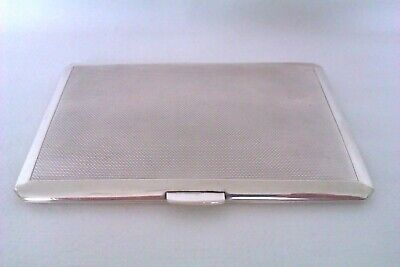 Large & Heavy Solid Silver Art Deco Cigarette Case Smith & Bartlam 1944  206.22g