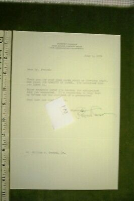 Robert Carson Typed Signed Letter Dated 1954 Signed In Green Ink
