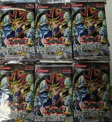 Yu-Gi-Oh! 6x Metal Raiders Booster Packs - Factory Sealed