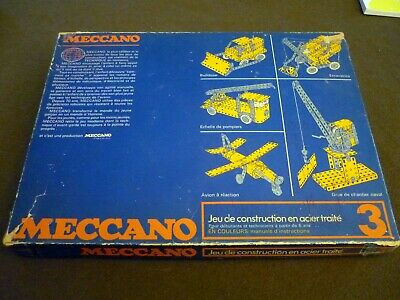 MECCANO Vintage years '70, Metal Construction Kit n. 3, ORIGINAL; very good