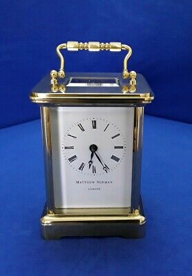 Matthew norman carriage clock (serviced may.)