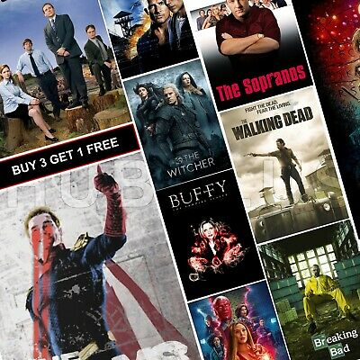 Top Best TV Show Posters A4 A3 HD Glossy Prints Game of Thrones Friends TWD B99