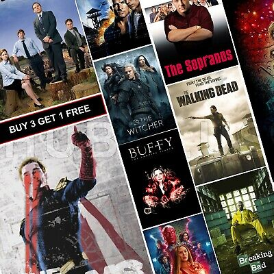 Top Best TV Show Posters A4 HD Glossy Prints Art Game of Thrones Friends TWD B99