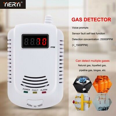 Fuel Gas Leak Detector Natural Gas Safe Alarm Monitor Natural Sensor warning UK