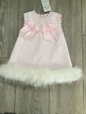 b302f8bbb New Arrival Winter Wee Me Baby Girl Pink Spanish Dress with Fur Trim/Romany