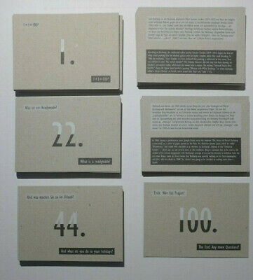 Joseph Kosuth 100 QUESTIONS ABOUT MARCEL DUCHAMP * 102 CARDS EDITION 2018