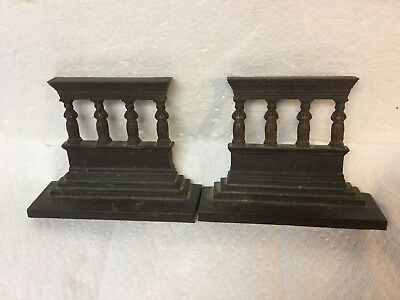 Antique Bradley & Hubbard Bookends Greek Temple Acropolis Athena Porch Maidens