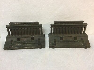 Best Antique Bradley & Hubbard Cast Iron Bronze Finish Bookends Lincoln Memorial