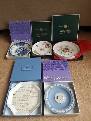 5 Wedgwood & Minton sweet dishes, pin trays all boxed.