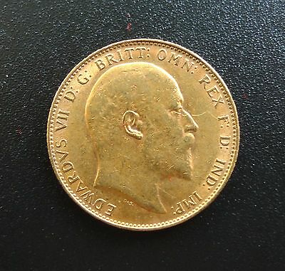1910 KING EDWARD VII FULL GOLD SOVEREIGN & in a capsule