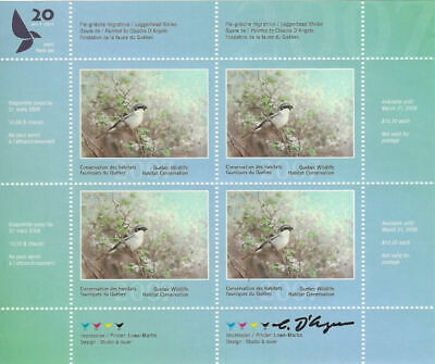 2007 Canada Quebec  Wildlife Habitat Conservation  -DQ53s    Mint NH