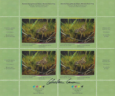 2006 Canada Quebec  Wildlife Habitat Conservation  -DQ50s    Mint NH