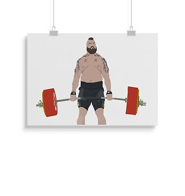 Eddie Hall, Weightlifter, Worlds Strongest, Print, Poster, Wall Art, Gifts