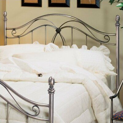 Hillsdale Milano Metal Headboard in Antique Pewter-Full/Queen