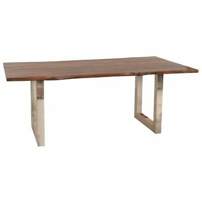 Steve Silver Riverwood Dining Table in Chestnut with Dairymilk Wash