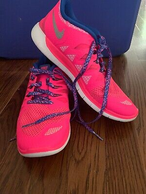 e57ce5123d Girl's Nike Free 5.0 Size 7Y Youth Shoes Sneakers Hyper Pink 644446 601 NEW