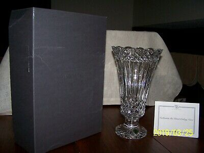 """Waterford Crystal Catherine The Great 11"""" Vase  Limited Edition  #380/1500  Nib"""