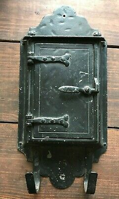 Vintage Original Antique Craftsman/Arts&Crafts/Mission Black Porch Mailbox
