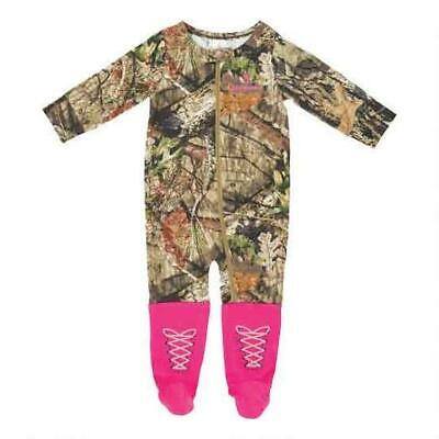 d1784128cdd48 Browning Baby Union Suit Mossy Oak Camo / Fuchsia Pink 12 Month Footie  Pajama