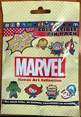 Disney Collectible Pin Pack MARVEL Mystery Bag of 5 Pins Sealed in Canada