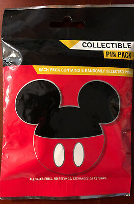 Disney Collectible Pin Pack MICKEY HEADS Mystery Bag of 5 Pins Sealed in Canada