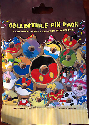 Disney Collectible Pin Pack DONUTS Mystery Bag of 5 Pins Sealed in Canada