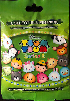 Disney Collectible Pin Pack TSUM TSUM S2 Mystery Bag of 5 Pins Sealed in Canada