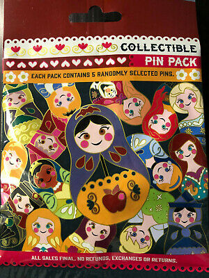 Disney Collectible Pin Pack NESTING DOLLS Mystery Bag 5 Pins Sealed in Canada