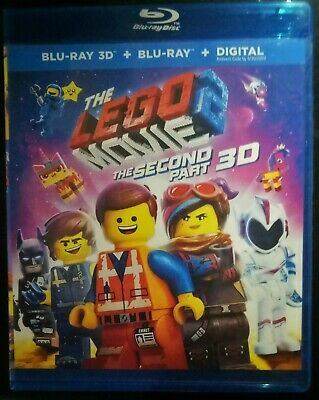 The Lego Movie 2: The Second Part 3D BLURAY  (no region code required )
