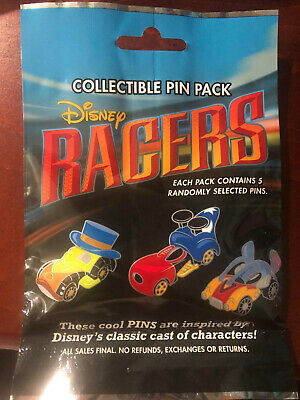 Disney Collectible Pin Pack DISNEY RACERS Mystery Bag 5 Pins Sealed in Canada