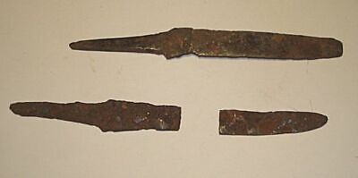 2 Ancient Jerusalem Israel ROMAN Iron SPEAR-ARROWHEADS  100AD
