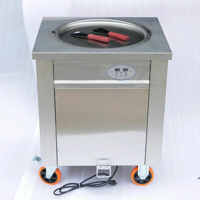Fried Ice Cream Roll Machine - Commercial Single Flat Pan
