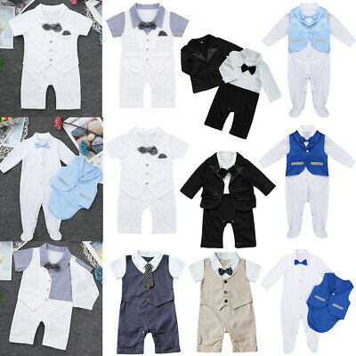 34615370 Newborn Baby Boys Formal Party Suit Tuxedo Gentleman Romper Coat Outfits  Clothes