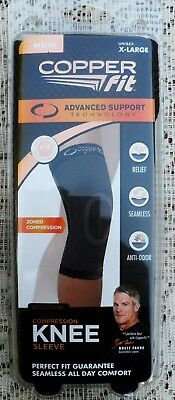 92f9d56778 COPPER FIT Advanced Support ZONED Compression KNEE Sleeve XL 19.5- 21